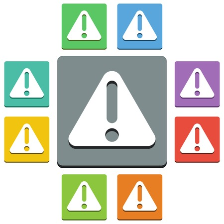 alert icons - 'almost flat' style - 9 colors Stock Vector - 23520001