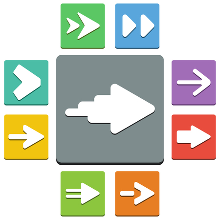 designator: arrows icons - almost flat style - 9 colors