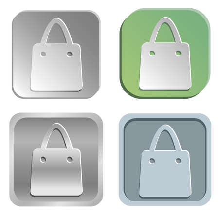 shopping bag buttons Vector