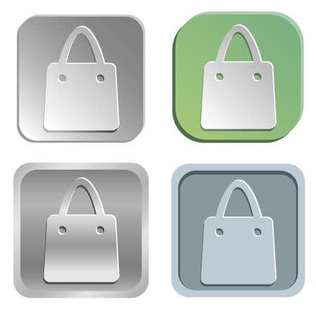 shopping bag buttons Stock Vector - 23520007