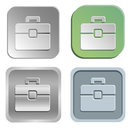 shadowy: briefcase buttons - four styles Illustration
