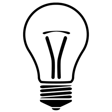 lampe: silhouette of a bulb Illustration