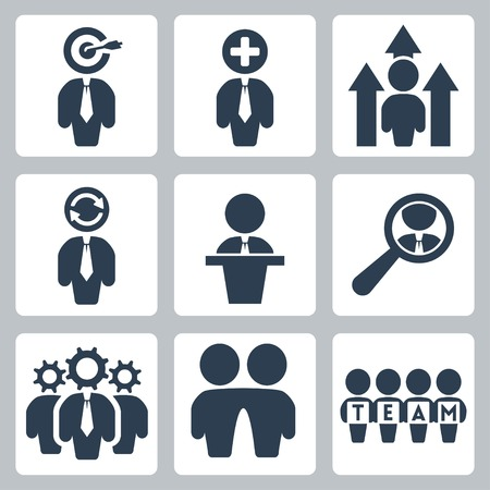 rewarding: business and partnership icons set Illustration