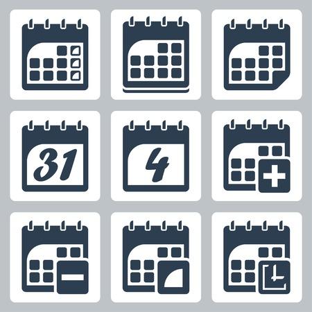 31: isolated calendar icons set