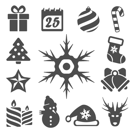 isolated christmas icons set Vector