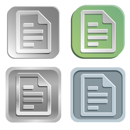 shadowy: document buttons Illustration
