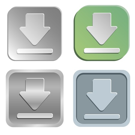 vector download: Vector download buttons - four styles