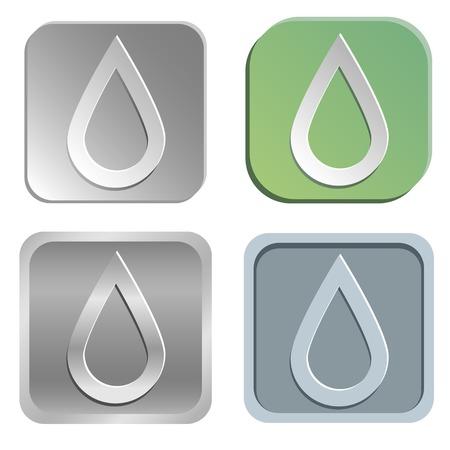 water pump: Vector drop buttons