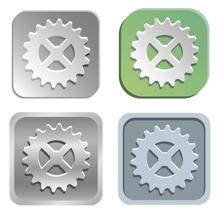 Vector gear buttons Vector
