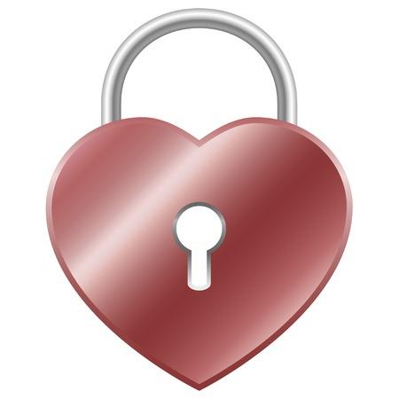 padlock: Padlock - heart shape