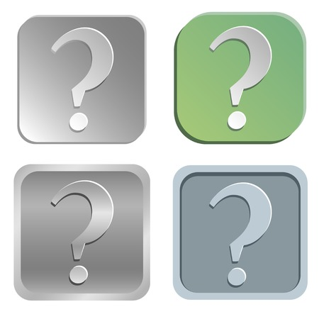 shadowy: Vector question mark buttons - four styles Illustration