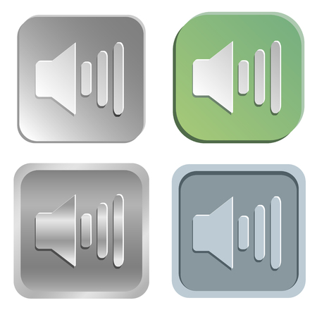 shadowy: volume buttons - four styles Illustration