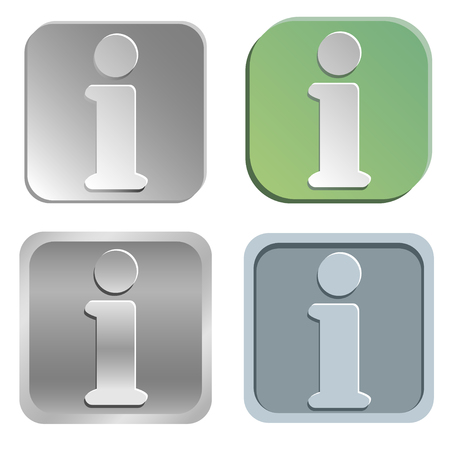 shadowy: information buttons - four styles