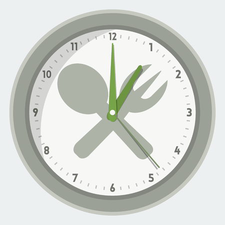 cooking time: isolated clock - lunch time concept