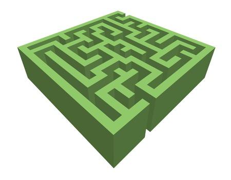 labyrinth: hedge maze Illustration