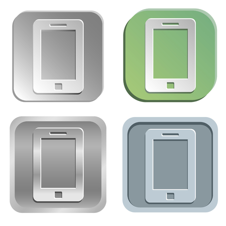 shadowy:  smartphone buttons - four styles