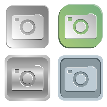 shadowy: camera  buttons - four styles Illustration