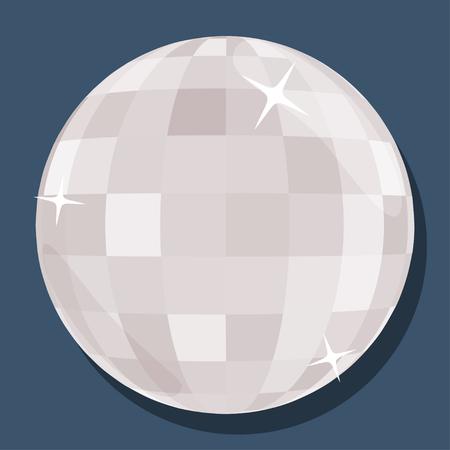 disco ball: silver disco ball  in flat style