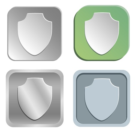 shadowy: shield  buttons - four styles Illustration