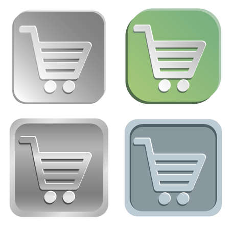 shadowy: shopping cart buttons - four styles Illustration