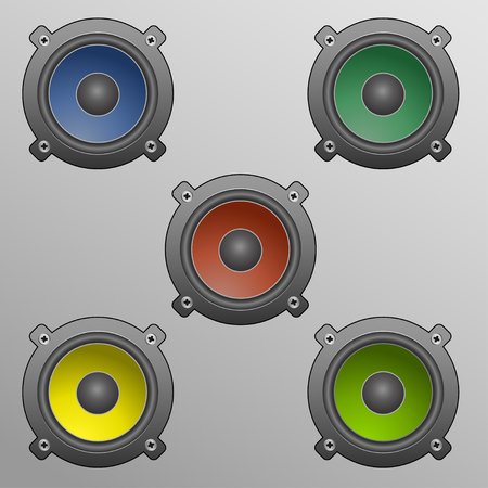 speakers in diffrent colors Stock Vector - 23520530