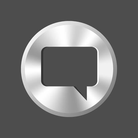 speech buble: speech buble metal button