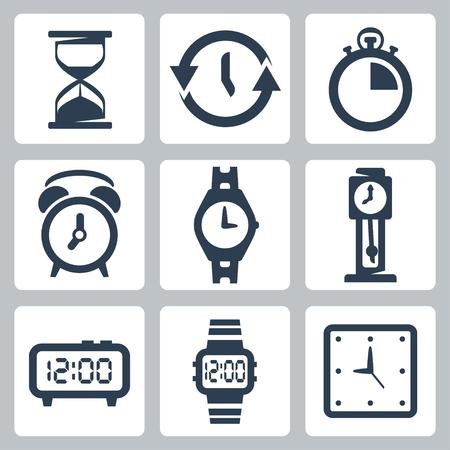 reloj de pendulo: aislados relojes iconos conjunto