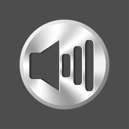 shadowy: metallic volume button