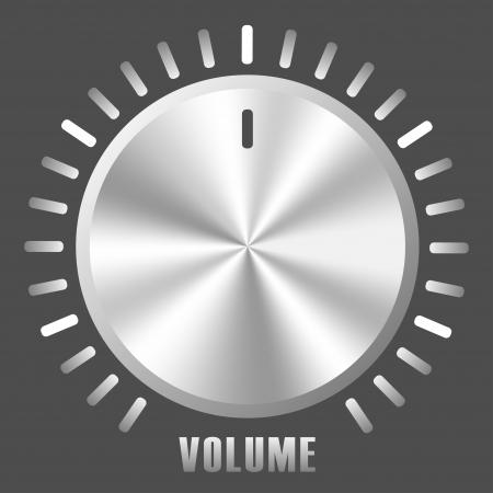 switcher: metallic volume control knob