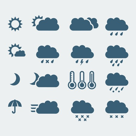 isolated weather icons set Stock Vector - 23520578