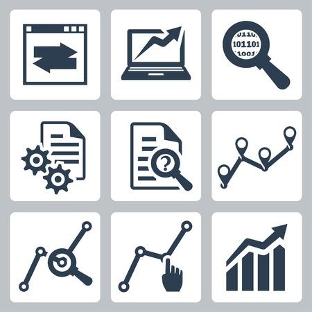 auditor�a: Iconos de an�lisis de datos de vector definido