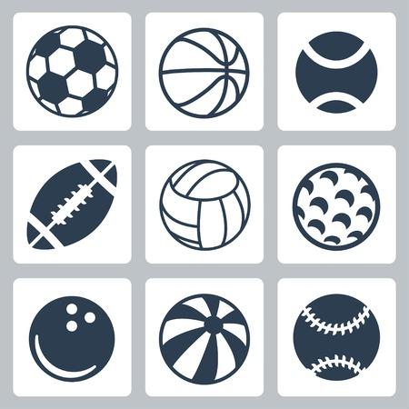 sport balls icons set