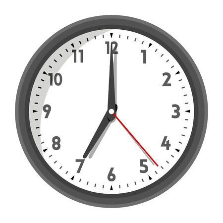 Vector illustration of office wall clock in Banco de Imagens - 23520659