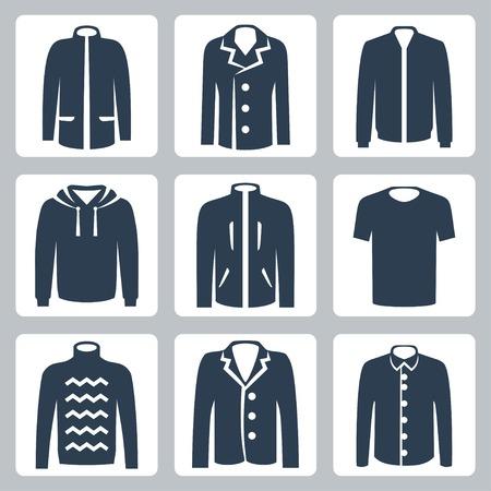 outwear: Vector men Illustration