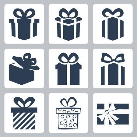 Vector isoliert Geschenk, setzen vorliegenden Symbole