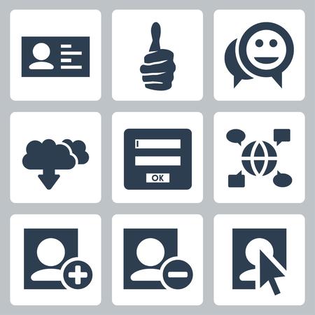 Vector social network icons set Vector