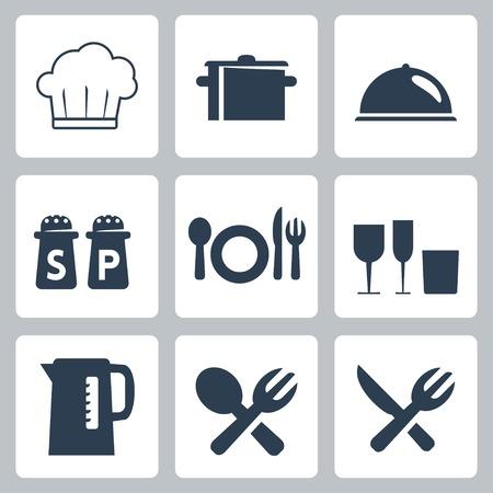 Vecteur isolé icônes arts de la table Banque d'images - 23520780