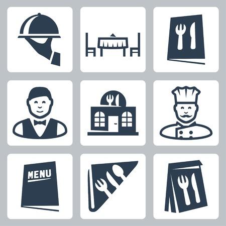 refei��es: Vetor isolado restaurante