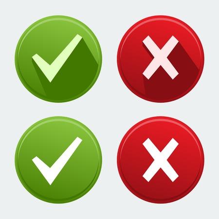 garrapata: compruebe los iconos de marca Vectores