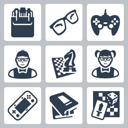 pocket book: nerd icons set
