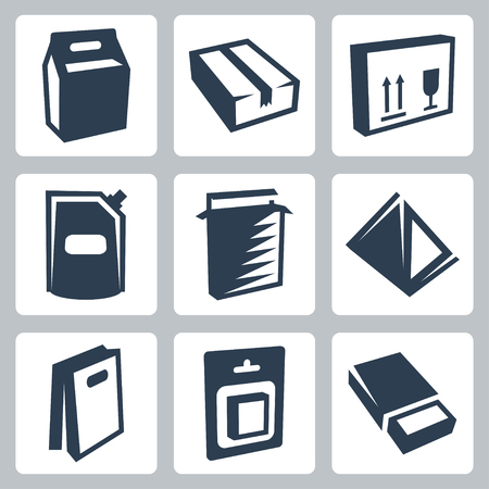 blister: package icons set