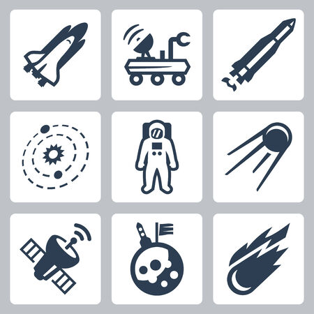 solar symbol: space icons set