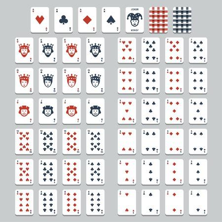 speelkaarten, vlakke stijl