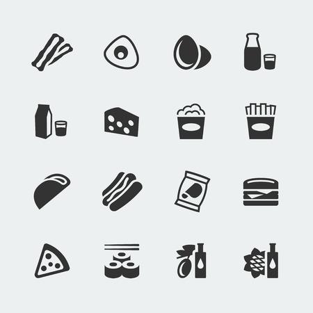 Vector food mini icons set #2