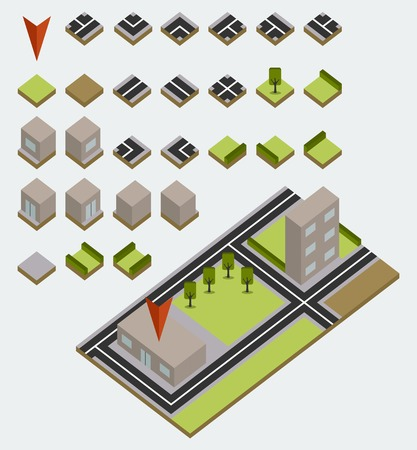 isometric map kit Vector