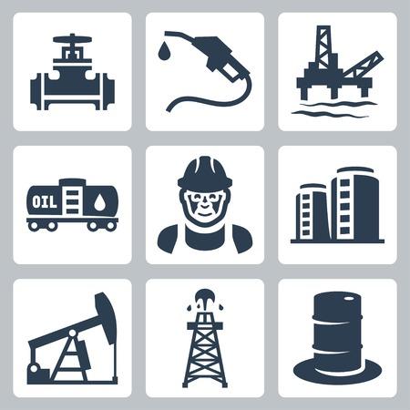 Vector olie-industrie iconen set