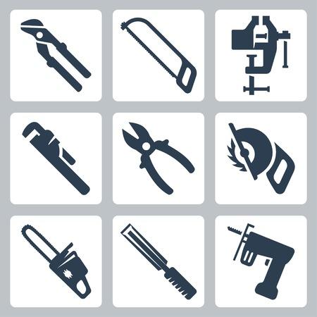 Vector geïsoleerd gereedschap iconen set