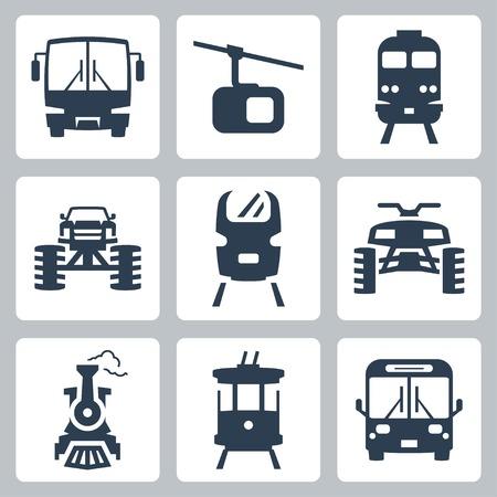 streetcar: Iconos de transporte establecido