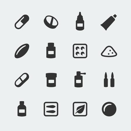 Vector medications mini icons set