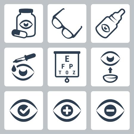 snellen: Vector optometry icons set